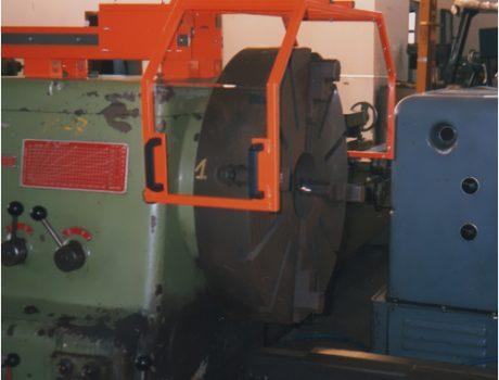 Protezioni per mandrino di Tornio con carrello scorrevole